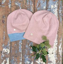 Mütze Strick rosé