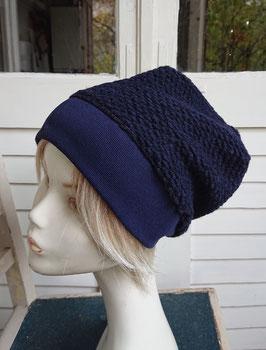 Mütze Strick blau