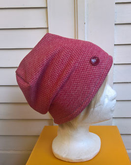 Mütze Stricksweat rot