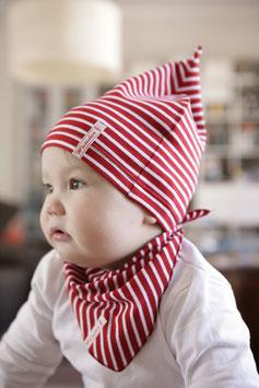 Jerseymütze rot-weiß