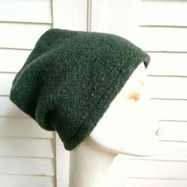 Mütze Wolle grün