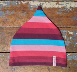 Jerseymütze rosa-türkis-rot