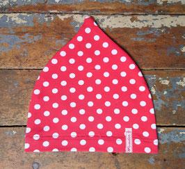 Jerseymütze rot weiß Punkte