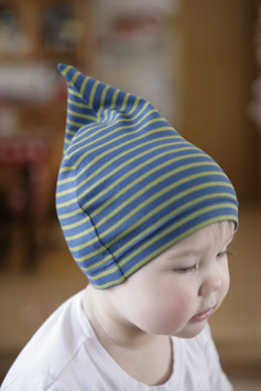 Jerseymütze dunkelblau-grün