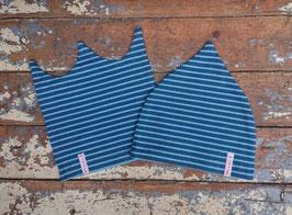 Jerseymütze dunkelblau-blau