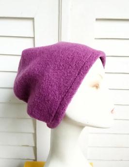 Mütze Wolle violett