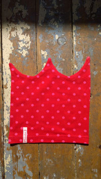 Jerseymütze rot-pink Punkte