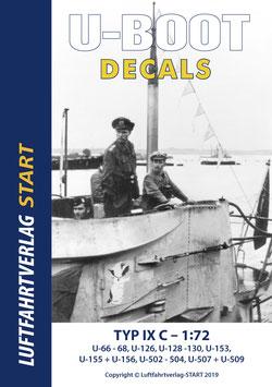 Decalbogen zum neuen Revell U-Boot Bausatz - früher Typ IX C