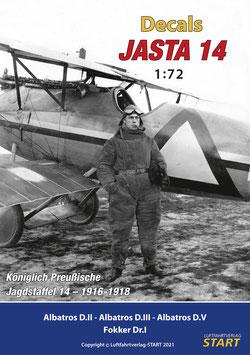 """Decalbogen zum Buch """"Jasta 14"""" (1:72)"""