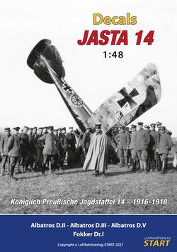 """Decalbogen zum Buch """"Jasta 14"""" (1:48)"""