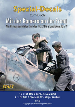"""Decalbogen zum Buch """"Mit der Kamera an der Front"""""""
