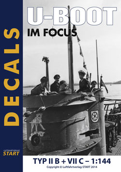 "Decals zu den ""U-Boot im Focus"" Edition 2-11 Typ II B + Typ VII C"