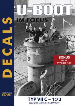 """Decals zu den """"U-Boot im Focus"""" Edition 2-11 Typ VII C + Bonus Decal für ein Typ XXIII Boot"""