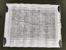 Carta Geografica TEDESCA Mappa Grenoble - ww2 (##)