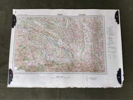Carta Geografica TEDESCA Mappa Tarbes - ww2 (##)
