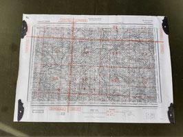 Carta Geografica TEDESCA Mappa  Nantes - Limoges - ww2 (##)