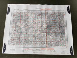 Carta Geografica TEDESCA Mappa Le Puy - Grenoble - Bourges - ww2 (##)