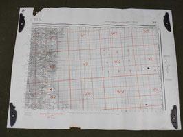 Carta Geografica TEDESCA Mappa Bastia - ww2 (##)