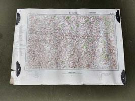 Carta Geografica TEDESCA Mappa Moulins - ww2 (##)