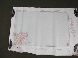 Carta Geografica TEDESCA Mappa Cherbourg - ww2 (##)