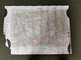 Carta Geografica TEDESCA Mappa Bourges - ww2 (##)