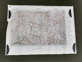 Carta Geografica TEDESCA Mappa Clermont - ww2 (##)