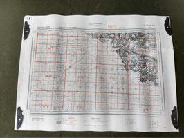 Carta Geografica TEDESCA Mappa Dax - ww2 (##)