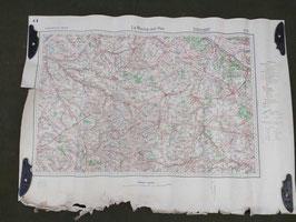 Carta Geografica TEDESCA Mappa Le Roche sur Yon - ww2 (##)