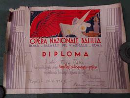 Diploma O.N.B.  Opera Nazionale Balilla