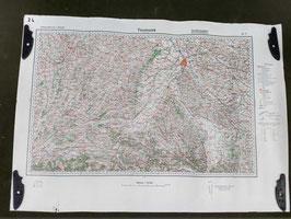 Carta Geografica TEDESCA Mappa Toulouse - ww2 (##)