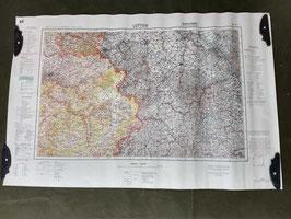 Carta Geografica TEDESCA Mappa GERMANIA - BELGIO - FRANCIA - OLANDA - ww2 (##)