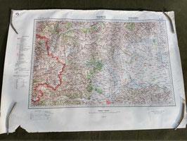 Carta Geografica Tedesca Mappa ITALIA - FRANCIA - ww2 (##)