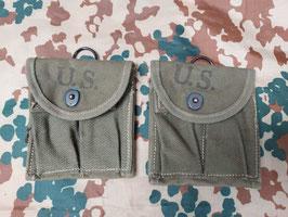 Taschetta M1 U.S. 15 colpi verde, da calcio - ww2 - marchio 1943  (#1)