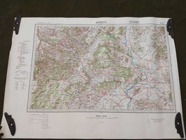 Carta Geografica TEDESCA Mappa Avignon - ww2 (##)