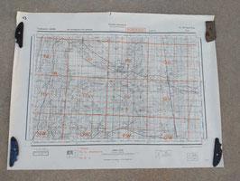 Carta Geografica TEDESCA Mappa Bordeaux - ww2 (##)