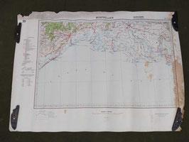 Carta Geografica TEDESCA Mappa Montpellier - ww2 (##)