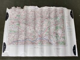 Carta Geografica TEDESCA Mappa Angers - ww2 (##)