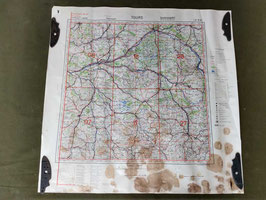 Carta Geografica TEDESCA Mappa Tours - ww2 (##)