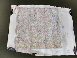 Carta Geografica TEDESCA Mappa Toulose - ww2 (##)