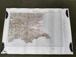 Carta Geografica TEDESCA Mappa Perpignan - ww2 (##)