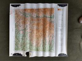 Carta Geografica TEDESCA Mappa Lyon - ww2 (##)