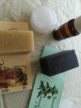 Haarpflegepaket  100 gr Seife und Öl