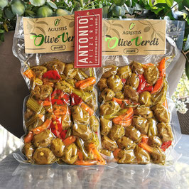 Agrestis - Olive Verdi piccanti - grüne Oliven pikant gewürzt - vakummiert