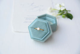 Ring Box sechseck SALBEI
