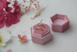 Ring Box sechseck ROSA