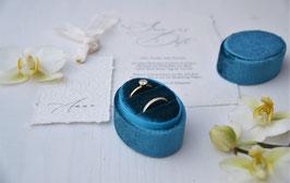 Ring Box oval PETROL