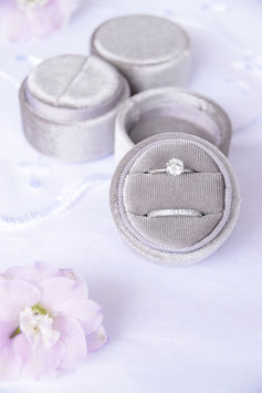 Ring Box rund LIGHT GREY