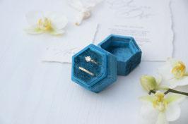 Ring Box sechseck PETROL