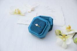 Ring Box achteck PETROL