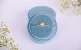 NEU Ring Box rund BLUE JEANS